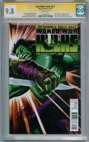 Incredible Hulk #611 CGC 9.8 Signature Series Signed Stan Lee  World War Marvel comic